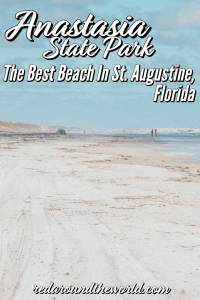Anastasia State Park in Florida is the perfect beach getaway from St. Augustine. It's great for biking, shelling, fishing, and geocaching. Florida vacation | Florida things to do | St. Augustine vacation | St. Augustine things to do | St. Augustine Florida | St. Augustine state park | St. Augustine Florida photography | St. Augustine Florida things to do | anastasia state park florida | florida state park | Florida beaches #Florida #USA #StAugustineFlorida