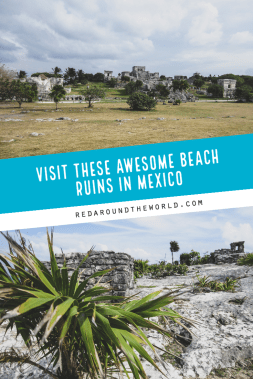 The Tulum Ruins in the Yucatan Peninsula are a must see on any trip to Cancun or Playa del Carmen. The Tulum Ruins in Mexico are one of a kind on a beach. Tulum Mexico things to do | Tulum ruins | Tulum things to do | Mexico ruins | Mexico things to do | playa del Carmen things to do | Tulum Mexico ruins | Mexico vacation | Mexico things to do | Tulum vacation
