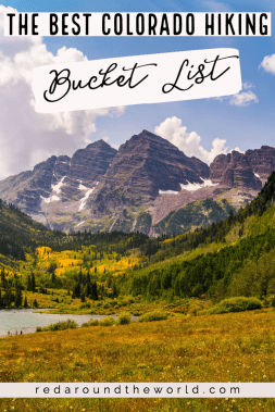 This is the best outdoor Colorado bucket list. Its the perfect bucket list for hiking in Colorado. It has some of the best hikes in Colorado and best parks. These are the best things to do in Colorado or on a Colorado road trip. Colorado hikes | Colorado bucket list | colorado things to do | bucket list colorado | hiking colorado | Colorado vacation | colorado travel | hikes in colorado | colorado national parks | colorado state parks | colorado scenic drives