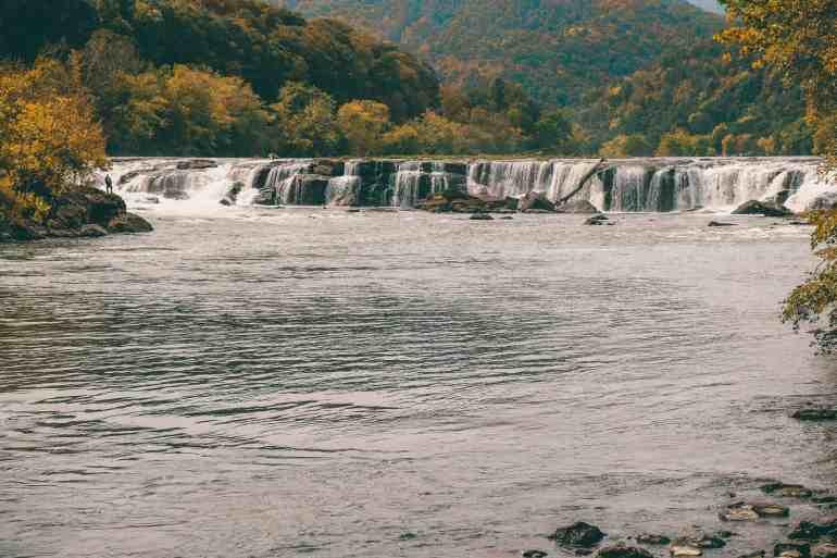 Sandstone falls new river gorge west virginia