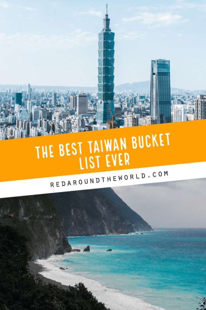 This is the best Taiwan bucket list ever. It will help you plan the best trip ever. Just visiting Taipei? Thee Taipei bucket list is perfect for you! Taiwan things to do | Taipei things to do | Taiwan bucket list | taipei bucket list | taiwan vacation | Taiwan travel | Taipei travel | Taipei vacation | Taiwan night markets | Taipei night markets | Kaohsiung | Hualien | Taitung | Kenting | Taiwan taipei | Taipei city