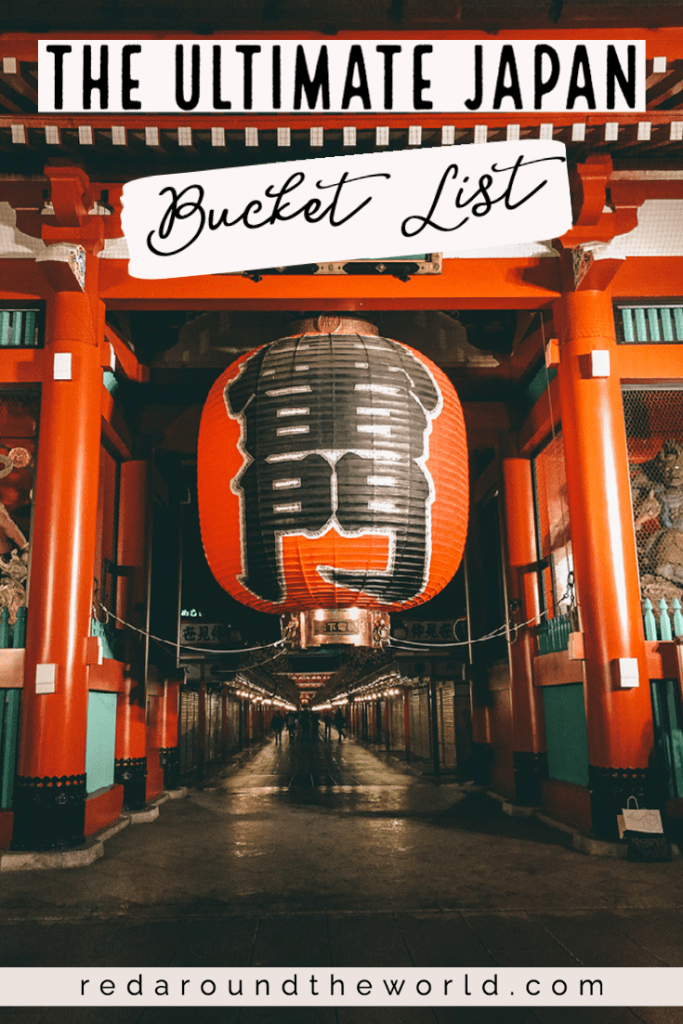 This Japan bucket list will help you have the best trip ever. Split between a Tokyo bucket list and a Japan bucket list, planning will be even easier. japan things to do | tokyo things to do | kyoto things to do | osaka things to do | japan travel | japan vacation | japan bucket list | tokyo bucket list | japan hikes | temples in japan | things to do in japan