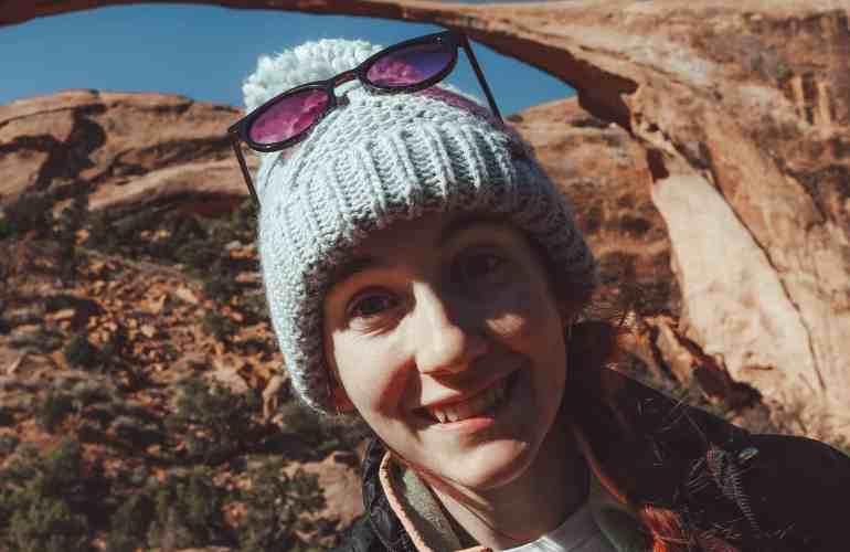 Me at landscape arch