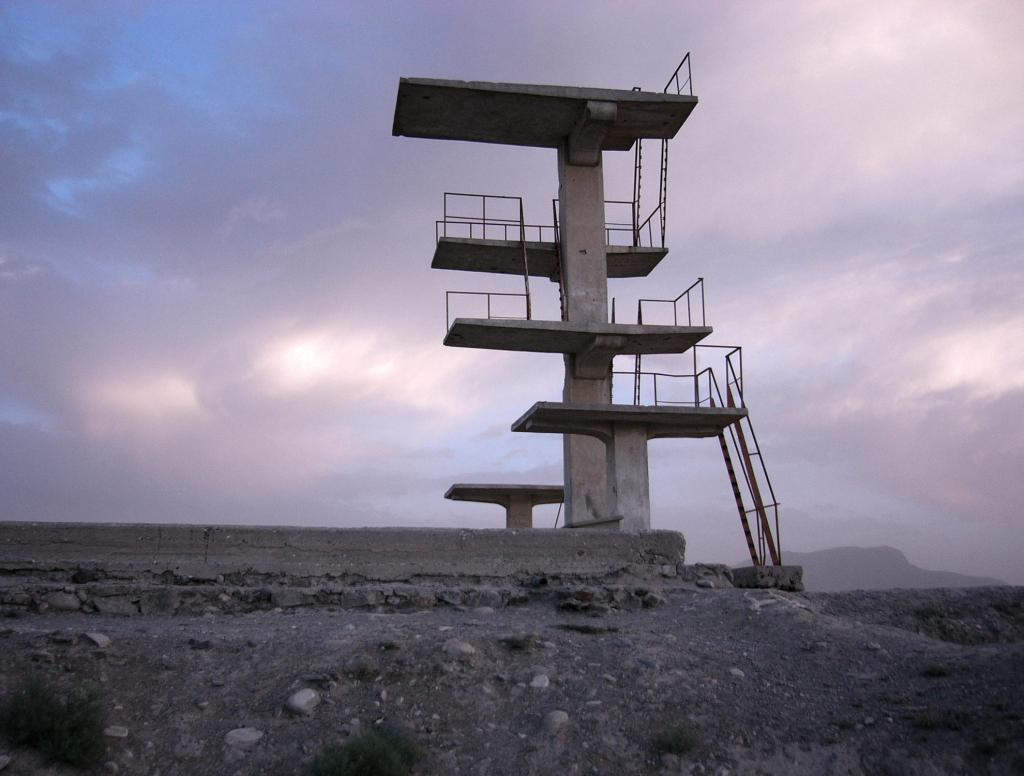 Diving platform on Graveyard Hill in Kabul from TV-Hill, Afghanistan. Sven Dirks, Wien
