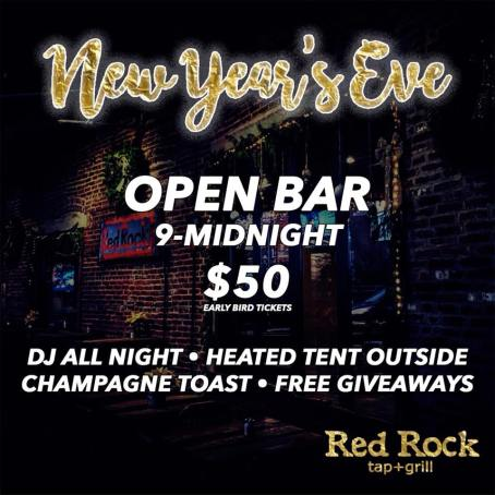 Red Rock Tap and Grill NEw Years Eve