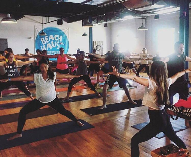 beach Haus Brewery yoga