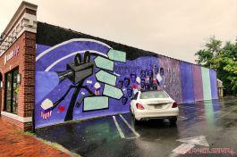 3rd annual community mural painting Indie Street Film Festival 1 of 36