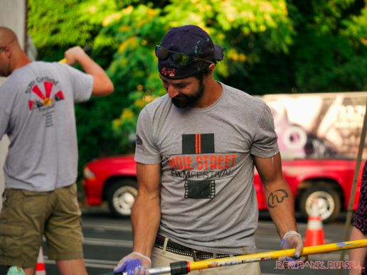 3rd annual community mural painting Indie Street Film Festival 8 of 36
