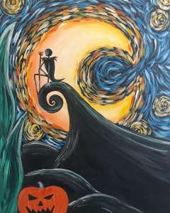 Starry Nightmare - Halloween Party Pinot's Palette