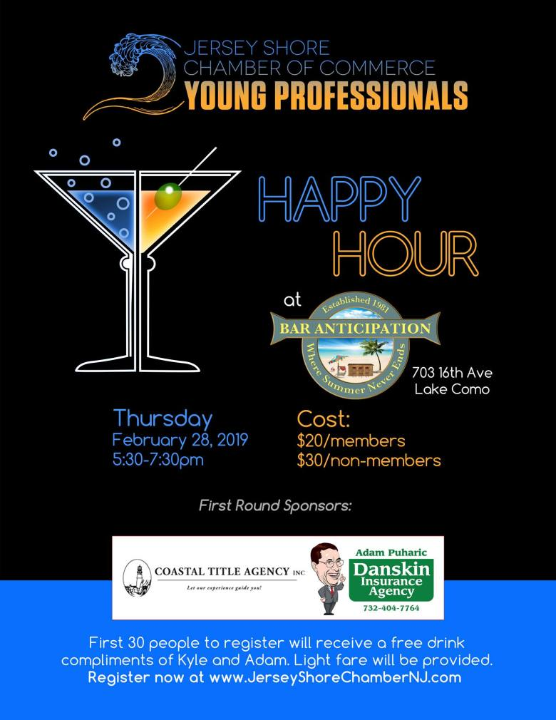 Young Professionals Happy Hour Jersey Shore Chamber of Commerce