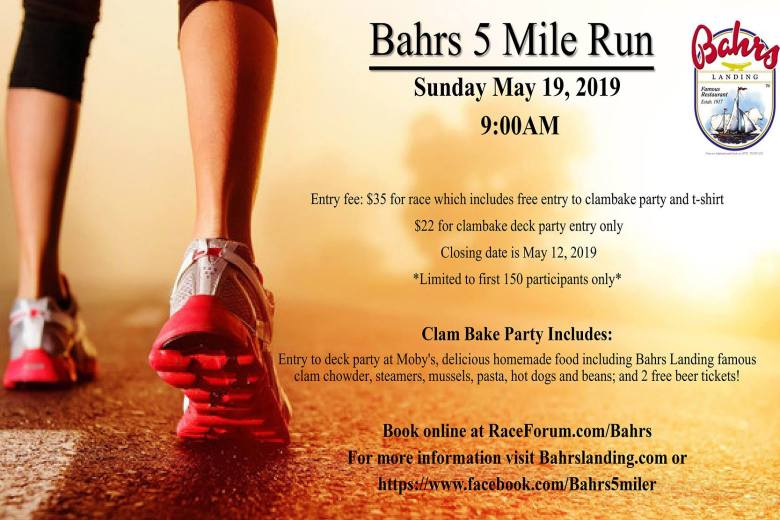 Bahr's Five MIle Run and Clam Bake