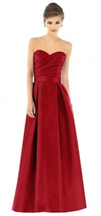 Red Color And Satin Fabric For Christmas Wedding ...