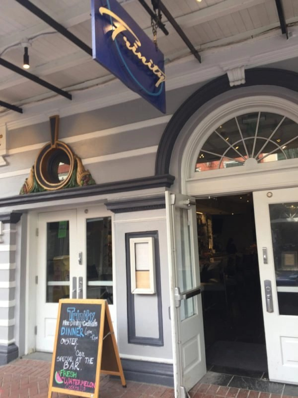 Exterior of Trinity Restaurant in New Orleans