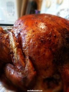Close up picture of the Creole Roasted Turkey