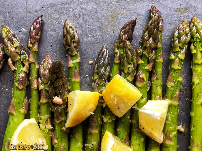 Lemon Roasted Asparagus with Zest and Zing