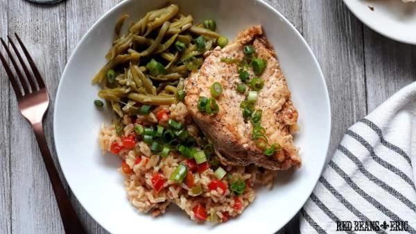 Easy Cajun Seasoned Chicken and Rice