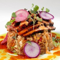 Seared Gulf Tuna with Creole Fried Rice