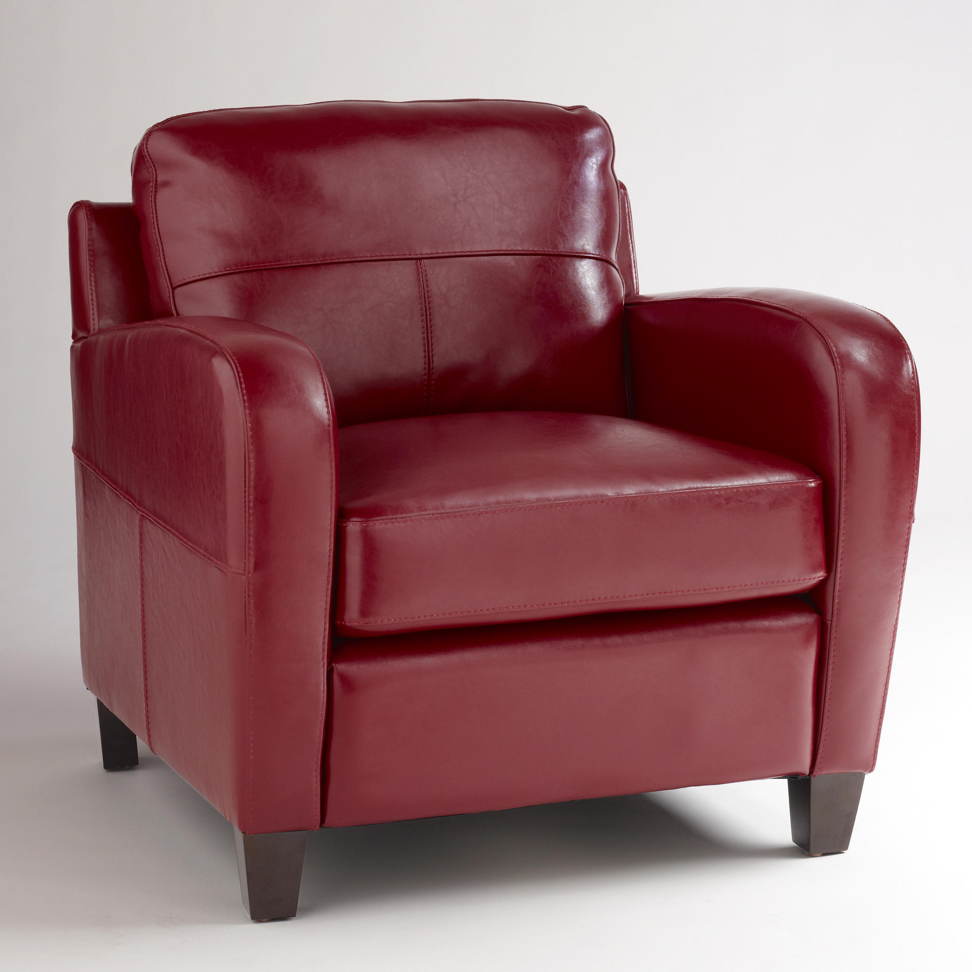 Red Leather Chair Obsession  REDBIRD