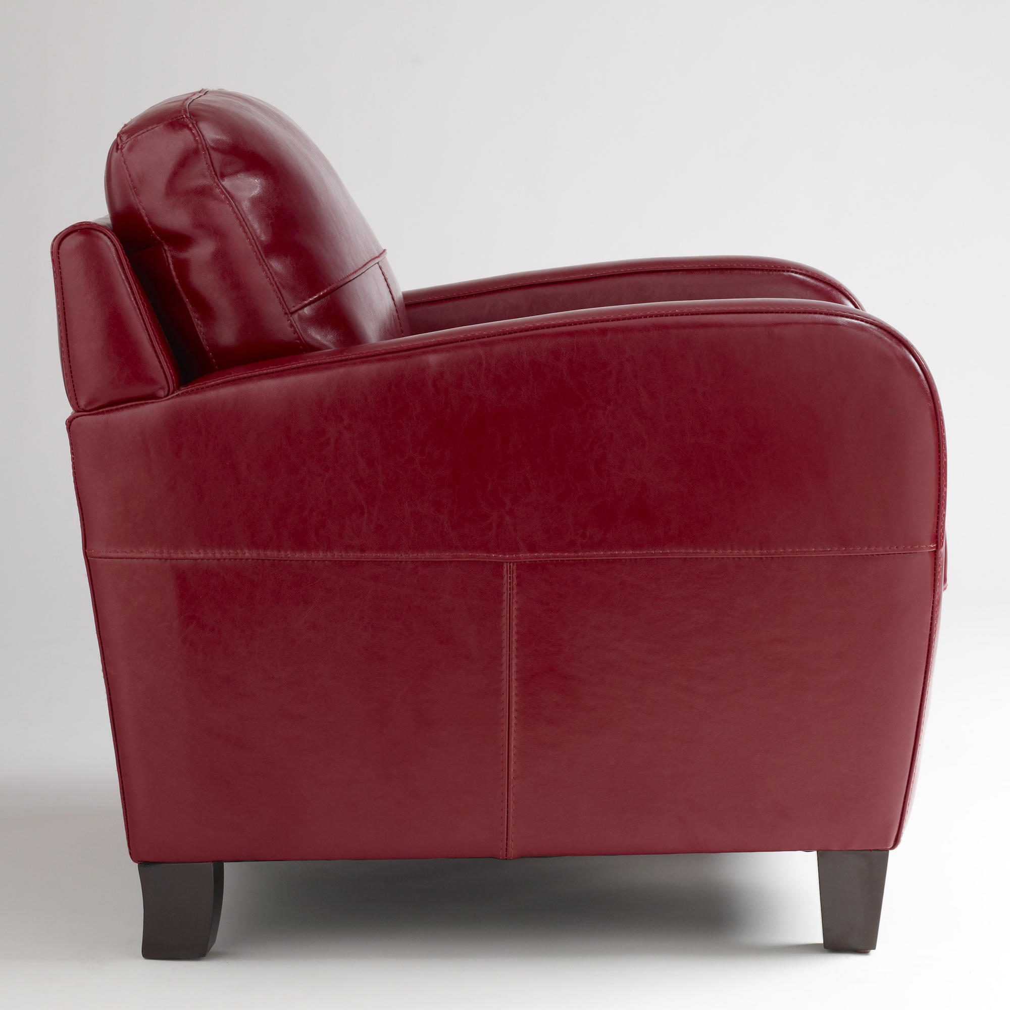 red leather sofas and chairs faux sofa bed canada chair obsession redbird