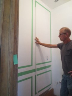 greg with powder room paneling