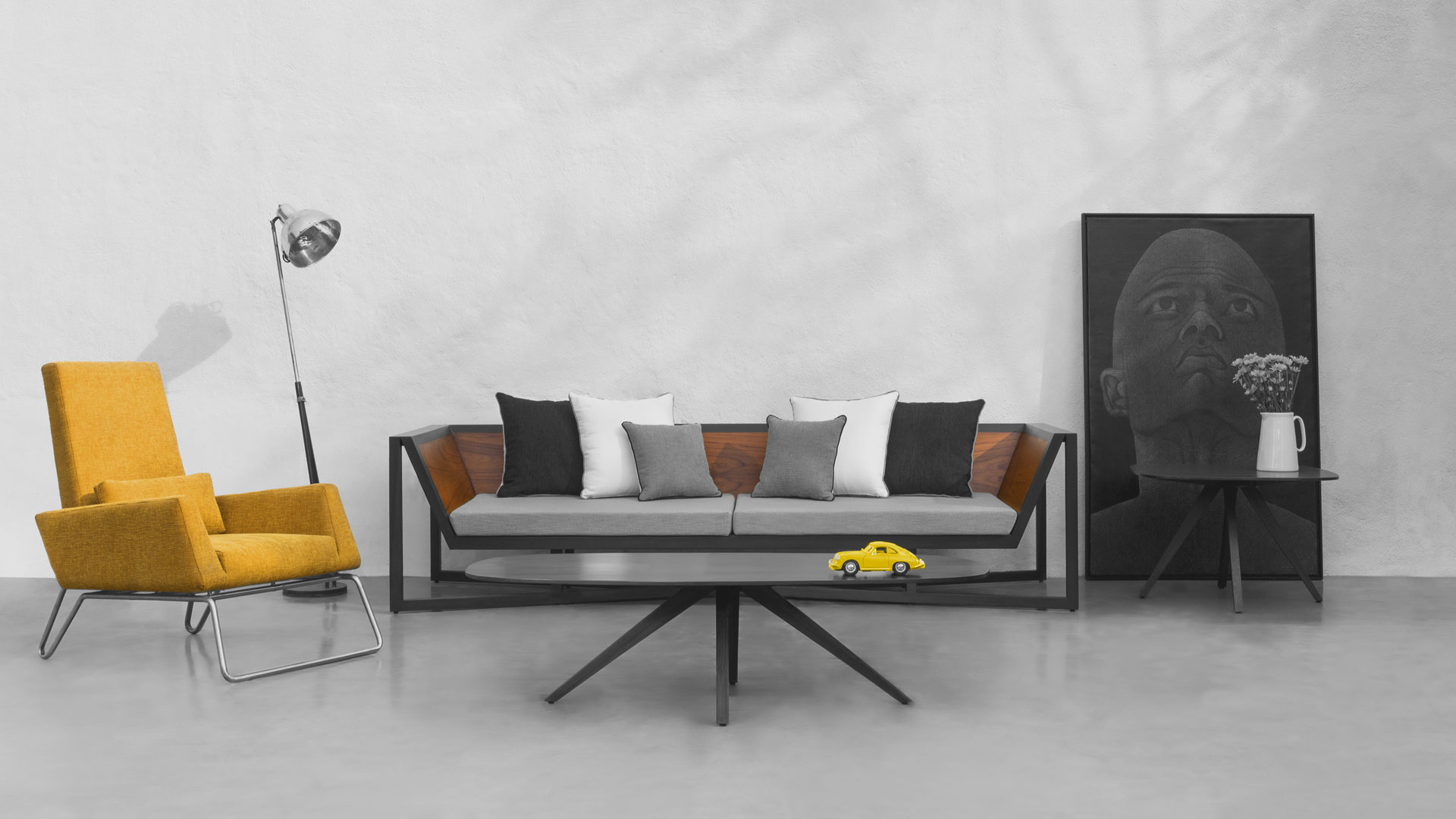 sofa set showroom in mumbai throws for sofas argos red blue and yellow  furniture store