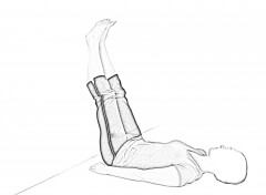 Supine Wall Stretch 1 | Hamstring Stretches