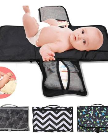 Foldable Changing Pad and Diaper Bag Redbox