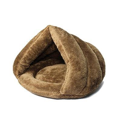 Comfy Plush Cat Cave Bed in Multiple Colors Redbox Brown 40x40x30