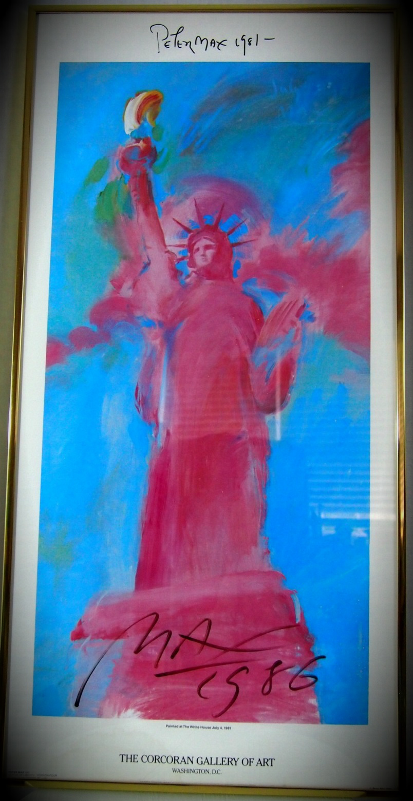 Peter MAX Statue Of Liberty LIthograph Print Double