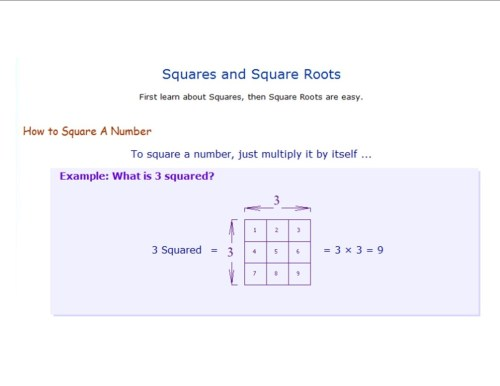 small resolution of Square \u0026 Cube Roots - 8th Grade Math