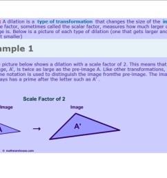 Dilations - 8th Grade Math [ 800 x 1035 Pixel ]