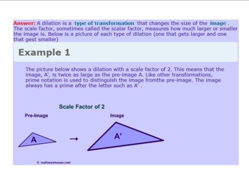 small resolution of Dilations - 8th Grade Math