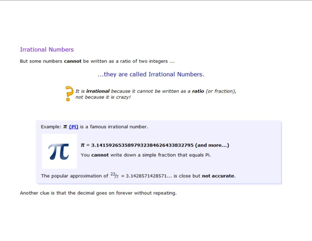 hight resolution of Rational and Irrational Numbers - 8th Grade Math