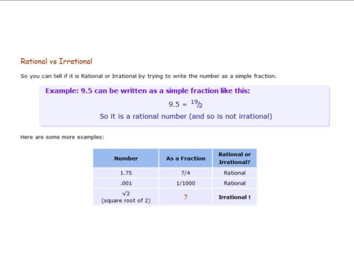 small resolution of Rational and Irrational Numbers - 8th Grade Math