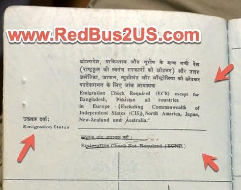 ECR vs Non-ECR (ECNR) Indian Passport Application. Meaning? - RedBus2US