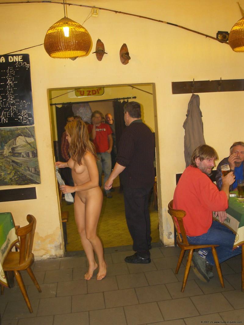 Alena nude at local bar  RedBust