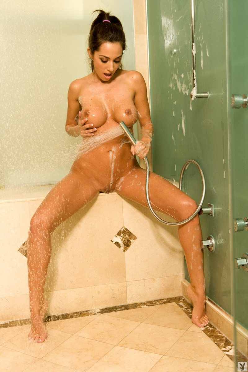 Candice Guerrero in bathroom