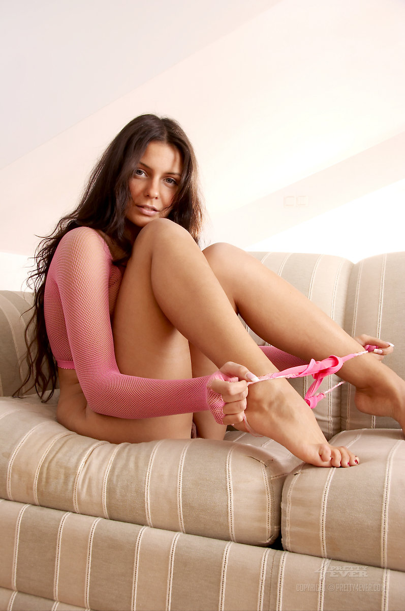 Cofi Milan  Pink fishnet