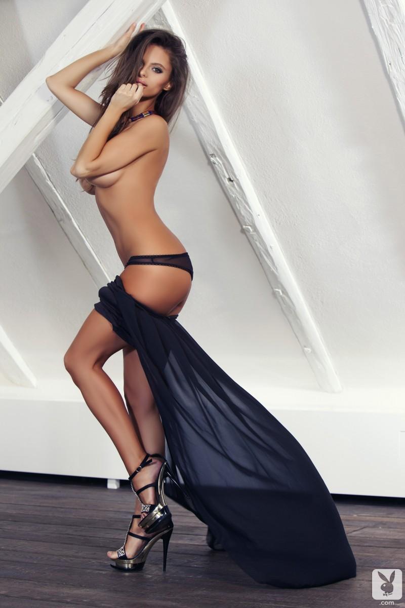 Dana Harem in black dress  RedBust