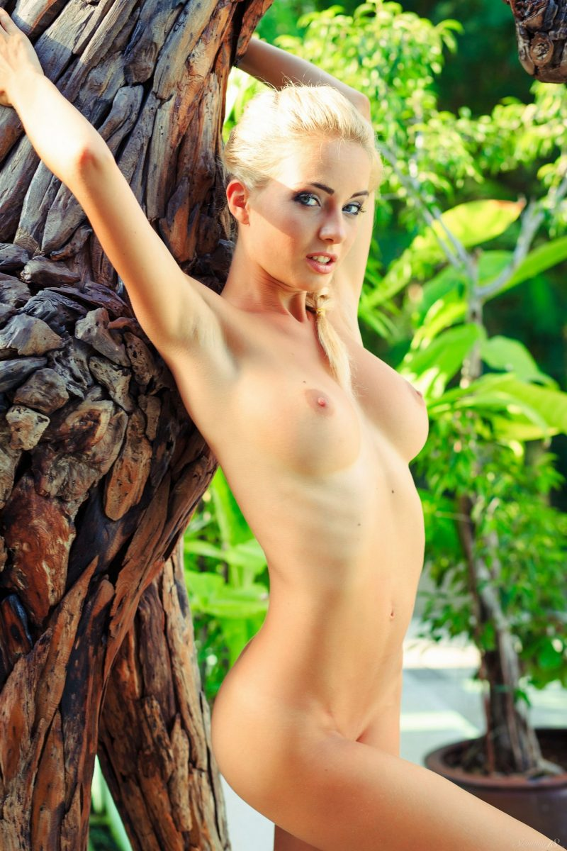 Danica on wooden horse  RedBust