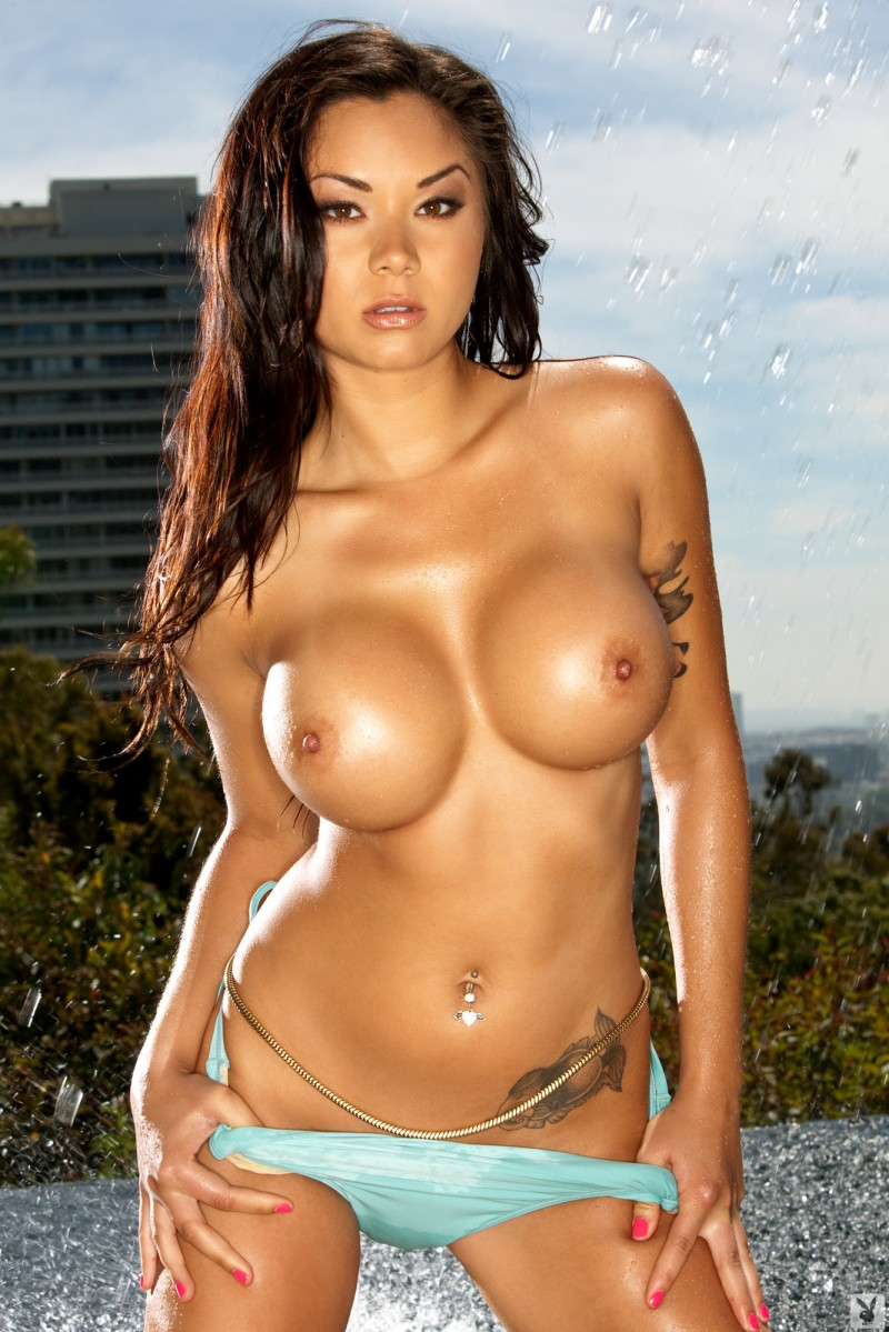 Jennie Reid by the pool  RedBust