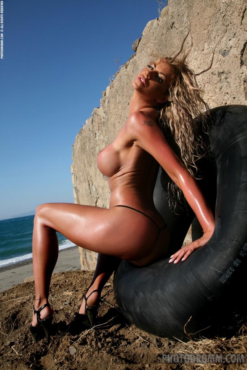 Jodie Dart in black bikini