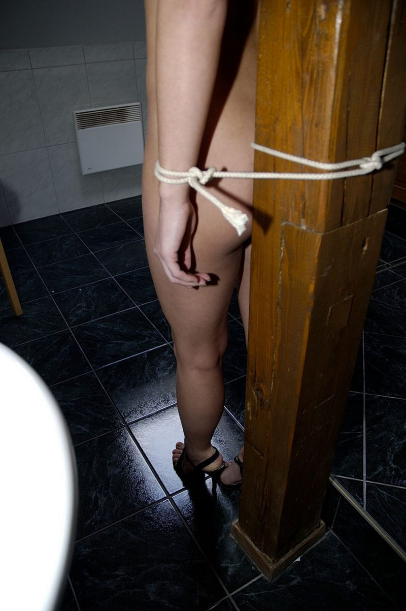 Kyla Cole tied up in bathroom  RedBust