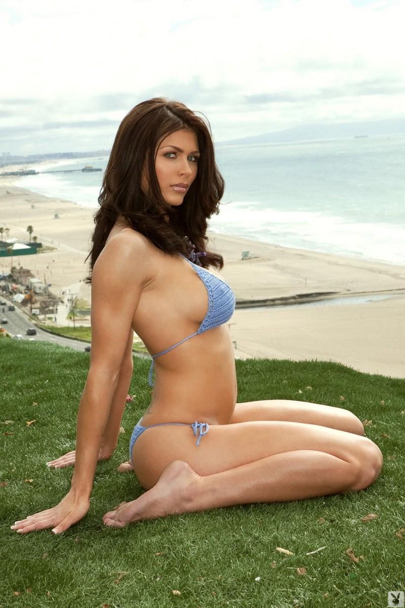 Lynda Redwine in crochet bikini  RedBust