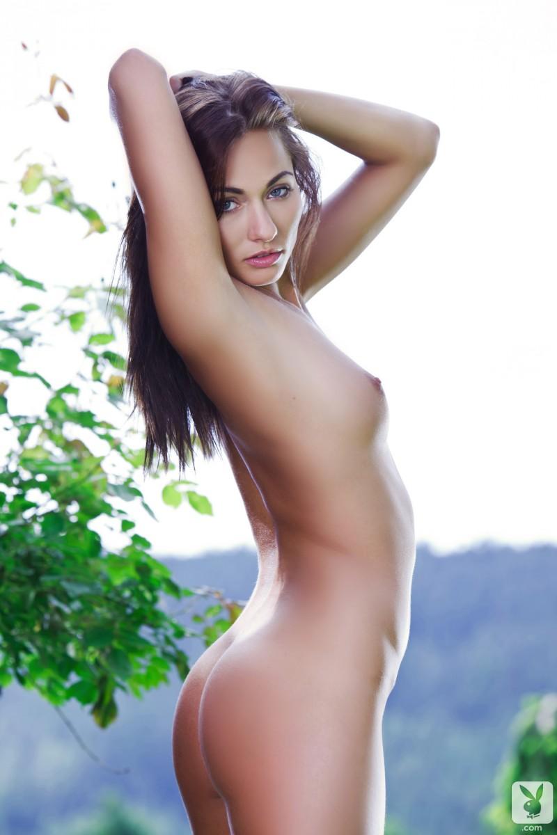 Michaela Isizzu on green lawn  RedBust