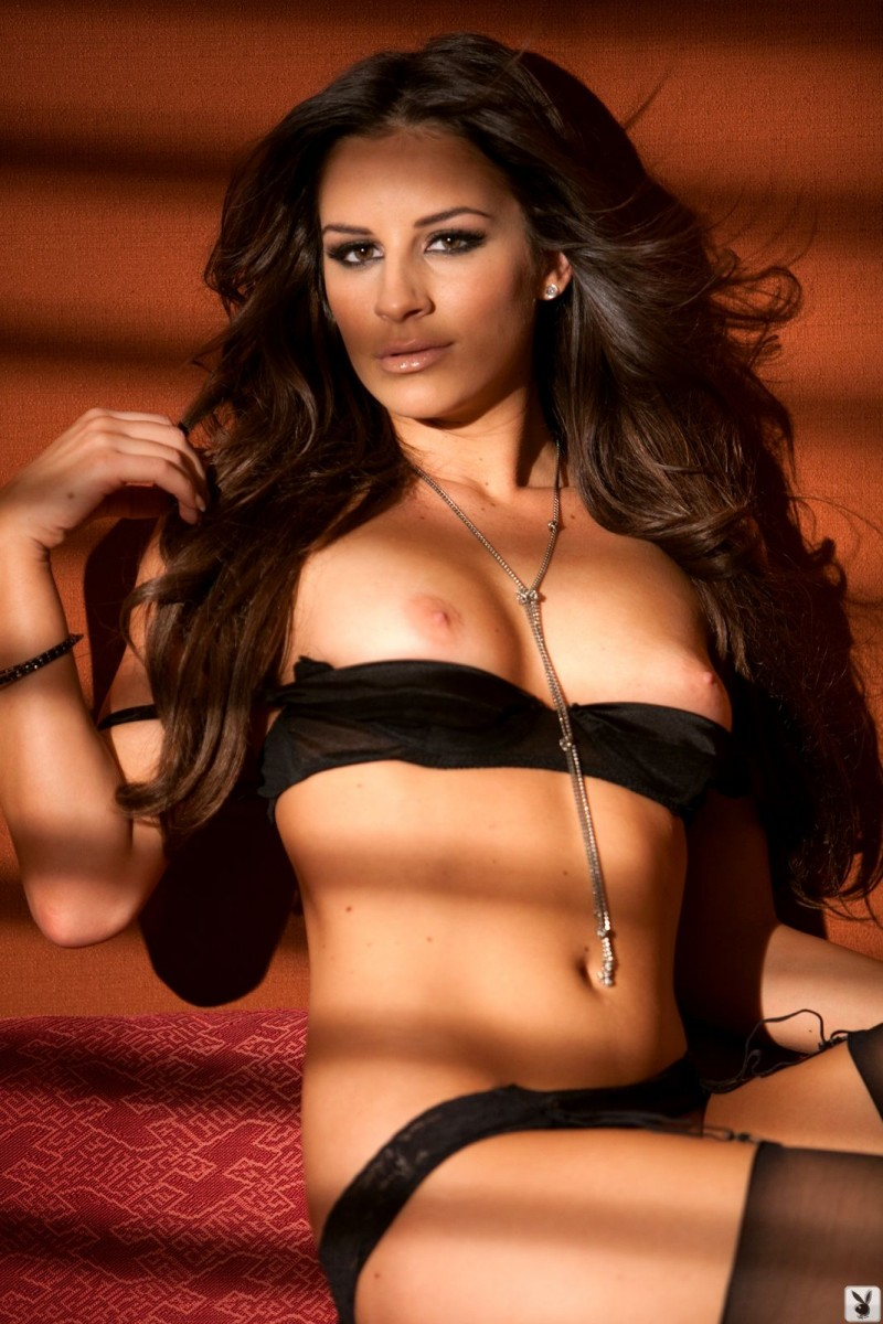 Nadia Marcella in black stockings  RedBust