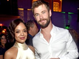 Tessa Thompson e Chris Hemsworth