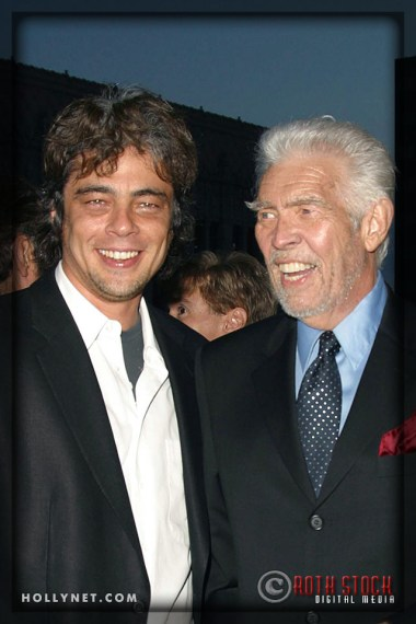 Benicio Del Toro and James Coburn