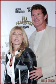 David Hasselhoff and Pamela Bach attend opening night of The Producers