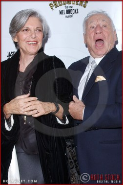 Mel Brooks and Anne Bancroft attend opening night of The Producers
